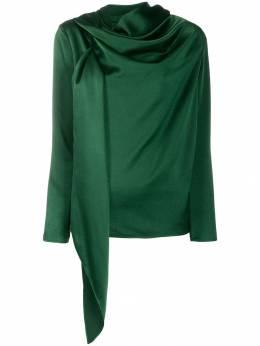 Gianluca Capannolo блузка асимметричного кроя с драпировкой 19IT567500
