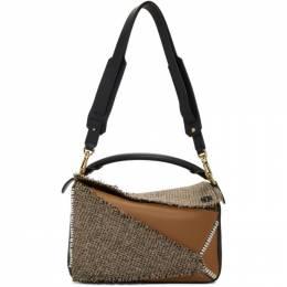 Loewe Tan Small Tweed Puzzle Bag 192677F04804201GB