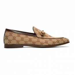 Gucci Beige New Jordaan Loafers 192451M23100916GB