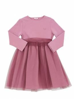 Платье Из Хлопка И Тюля Il Gufo 70I8Z9124-Njg2OA2