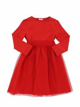 Платье Из Хлопка И Тюля Il Gufo 70I8Z9124-MzczNw2