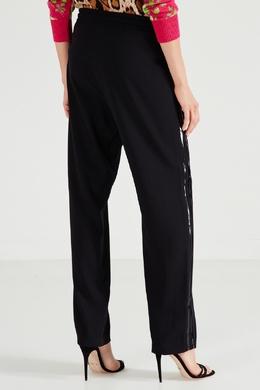 Прямые черные брюки с лампасами No. 21 35142704