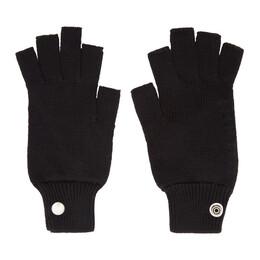 Rick Owens Black Mittens Gloves 192232F01200301GB