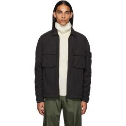 Stone Island Black Overshirt Jacket 192828M19200101GB
