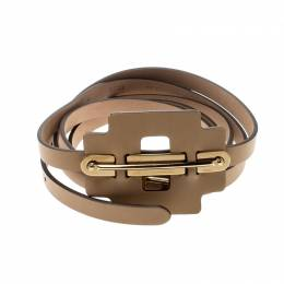 Tod's Beige Leather Belt 95CM 209007