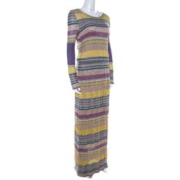 Missoni Multicolor Patterned Lurex Knit Maxi Dress S 211174