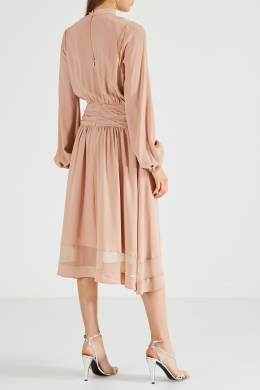 Пудровое платье из ацетатного шелка No. 21 35142703