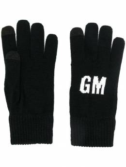 MSGM трикотажные перчатки с логотипом 2740MN02195574