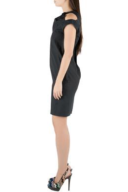 Marni Black Cotton Bow Knot Detail Shift Dress XS 211476