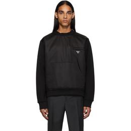 Prada Black Nylon Knit Sweatshirt 192962M19000507GB