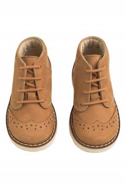 Коричневые ботинки с перфорацией Bonpoint 1210143403