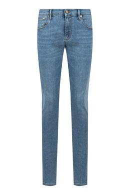 Голубые джинсы с вышитым логотипом Roberto Cavalli 314143276