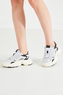 Серо-черно-белые кроссовки W20 Maje 888143416