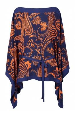 Блуза с принтом пейсли Roberto Cavalli 314143258