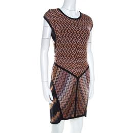 Missoni Brown Patterned Jacquard Knit Sleeveless Dress M 211706