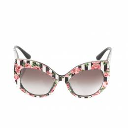 Dolce & Gabbana Rose Printed/ Black Gradient DG4321-F Rose Collection Cat Eye Sungalsses 211835