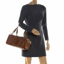 Mulberry Brown Leather Emmy Satchel 211647