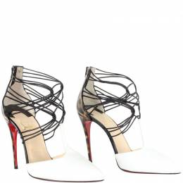 Christian Louboutin Multicolor Colorblock Patent Leather Strappy Sandals Size 37