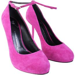 Giuseppe Zanotti Design Purple Suede Ankle Strap Pumps Size 39 187555
