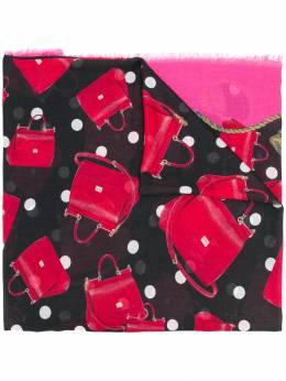 Dolce & Gabbana шарф с принтом сумок FS184AGDK63