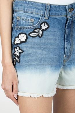 Джинсовые шорты с вышивкой Twin-set 1506143453