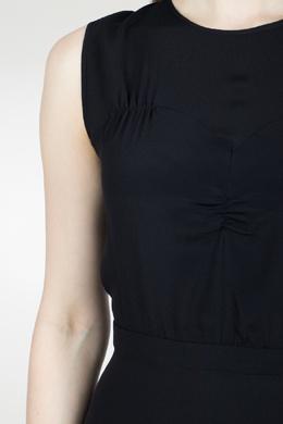 Черное приталенное платье с отделкой No. 21 35143900