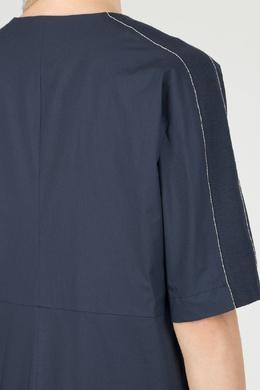 Синее платье с контрастной отделкой Peserico 1501143482