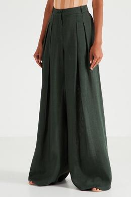 Широкие брюки цвета хаки Jacquemus 2985143925