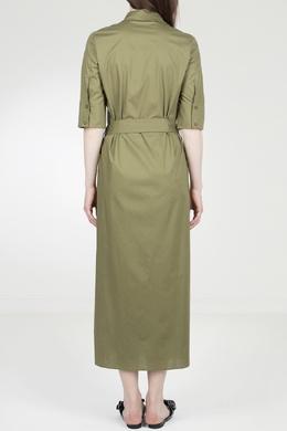 Зеленое платье-миди Twin-set 1506143425