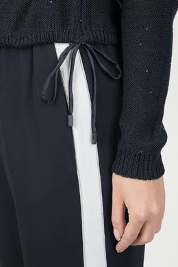 Черный джемпер с кулиской Peserico 1501143498