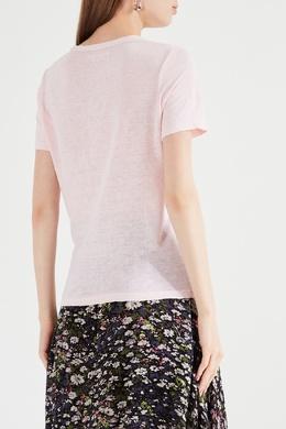 Розовая льняная футболка Isabel Marant Etoile 958143936