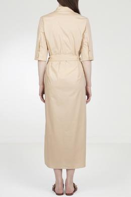 Бежевое платье-миди Twin-set 1506143423