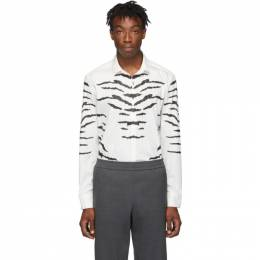 Neil Barrett Off-White and Black Tiger Print Shirt BCM1244A M028S
