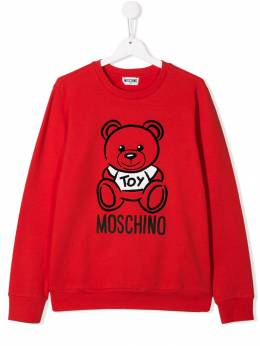 Moschino Kids свитер с принтом H6F01QLDA17