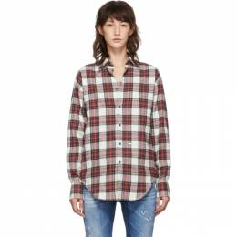 Dsquared2 Red Plaid Easy Dean Shirt S75DL0631 S52012