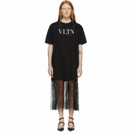 Valentino Black VLTN T-Shirt Dress 192476F05400204GB
