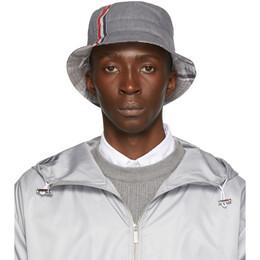 Thom Browne Grey Funmix Bucket Hat 192381M14000101GB