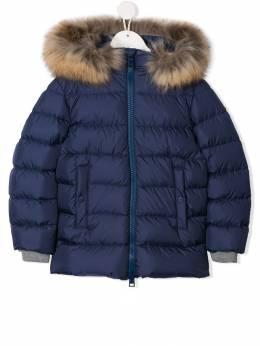 Herno Kids куртка-пуховик с отделкой из искусственного меха PI0047B12004