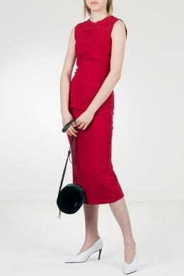 Красное приталенное платье-миди No. 21 35143654