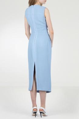 Голубое приталенное платье-миди No. 21 35143653