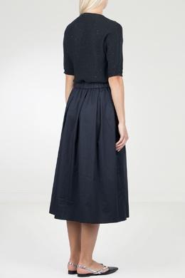 Синее комбинированное платье-миди Peserico 1501143494