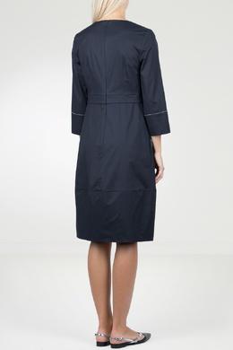 Синее платье с контрастными полосами Peserico 1501143478