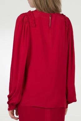 Красная блузка с оборками на плечах No. 21 35143769