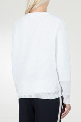 Белый джемпер с V-вырезом Peserico 1501143546