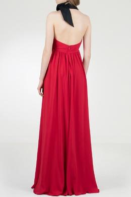 Красное платье-макси с контрастной завязкой No. 21 35143747
