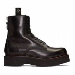 R13 Black Single Stack Boots 192021M25500105GB