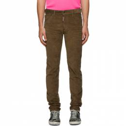 Dsquared2 Beige Corduroy Cool Guy Trousers S74LB0555 S40737