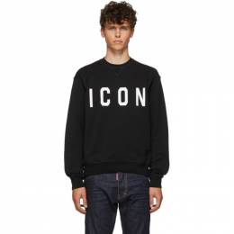 Dsquared2 Black and White Cool Fit Sweatshirt S74GU0352 S25042