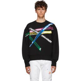 Dsquared2 Black Dyed Ball Fit Sweatshirt S74GU0337 S25030