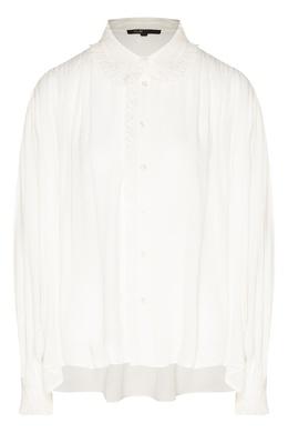 Белая батистовая блуза Maje 888143364